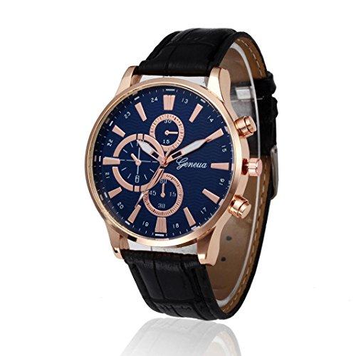 cinnamou Herrenuhren I Herren Uhren I Retro Design I Analoge Legierung Quarz-Armbanduhr I Herrenuhr Armbanduhr Armband I Schlicht, elegant und sportlich (Schwarz)