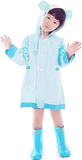 ポンチョレインコート キッズレインコート、防水ポータブルキッズレインポンチョ軽量レインウェアー付き男の子女の子用、アウトドア雨の日のための理想的なハイキングキャンプ旅行 (色 : 青, サイズ さいず : S s)