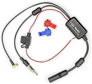 Vecys FM/AM DAB DAB + Auto antenne Signaalversterker Booster SMB Vrouwelijk naar DIN mannelijk Adapter 12V Digitale radio ...