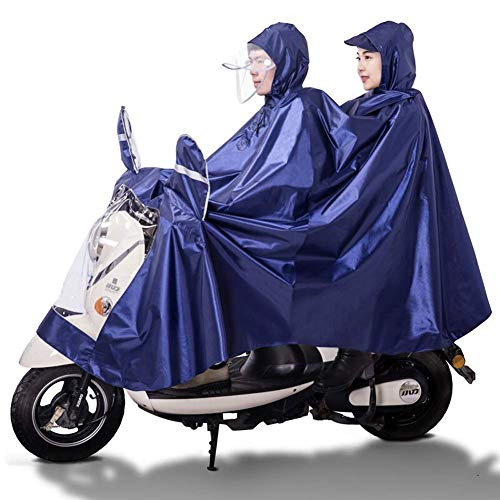 Cubierta sombrilla motocicleta eléctrica universal, poncho lluvia scooter doble, impermeable doble protección para adultos, reutilizable, para bicicleta, bicicleta, motocicleta, ciclismo al aire libr