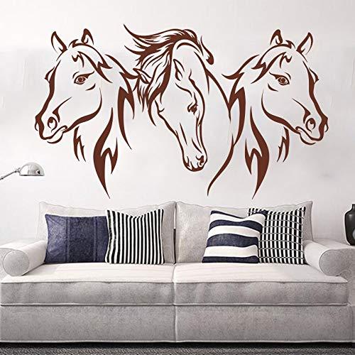 hetingyue Paardenhoofd muursticker voor slaapkamer, comic, eenhoorn, paardenkop, wandlamp, vinyl, woonkamer