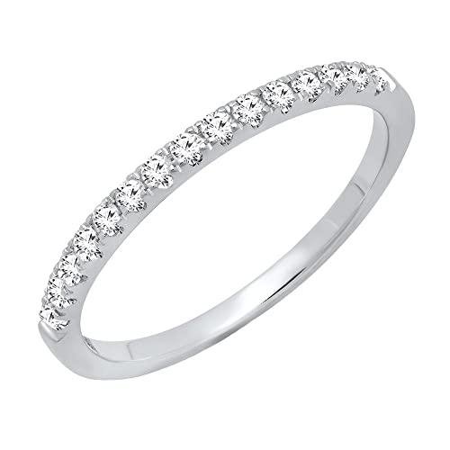 Dazzlingrock Collection Sterling Silver Mens Round Channel-set Diamond Wedding Band Ring 1//8 ctw
