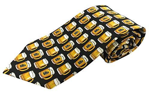 Männer Seidenkrawatte - Bierglas Alkohol Design