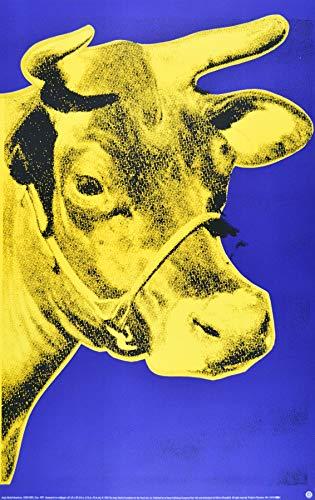 Germanposters Andy Warhol Kuh gelb Poster Kunstdruck Bild - 85 x 51.3 cm