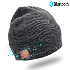 Fashion & Tech Combine: Super soft Acrylic and Polyester trendy knit beanie, keep you head warm while also listening or making calls with hands free via the newest bluetooth technology. The Newest Bluetooth Technology: Equipped with high efficiency B...