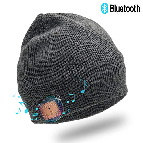 Enjoybot Bluetooth Beanie Wireless Knit Winter Hats Cap with Built-in Stereo Speakers and Microphone for Outdoor Sports