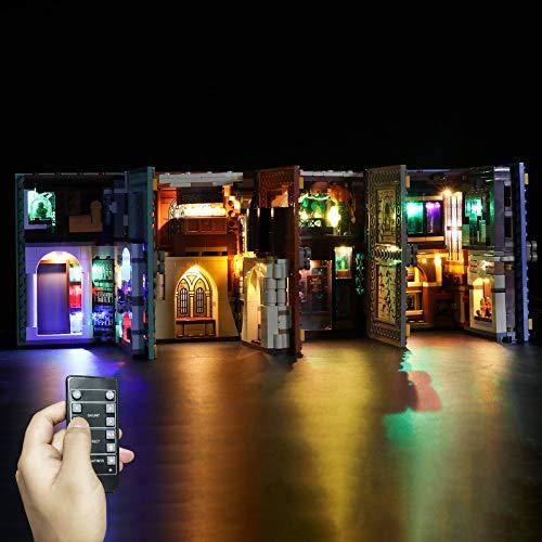 VenGo Juego de iluminación LED, 4 en 1, decoración para el modelo Hogwarts de Harry Potter, compatible con Lego (solo incluye LED, no el kit Lego).