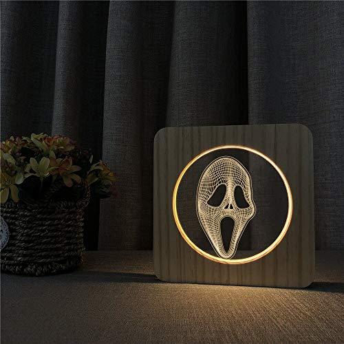 Lámpara de control del interruptor de la lámpara de mesa de la lámpara del ABS de acrílico del USB LED 3D para la decoración de la habitación de los niños