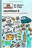 California Diario de Viaje: Libro de Registro de Viajes Guiado Infantil - Cuaderno de Recuerdos de Actividades en Vacaciones para Escribir, Dibujar, Afirmaciones de Gratitud para Niños y Niñas