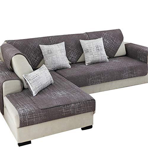 Funda de sofá Antideslizante de algodón Moderno para Mascotas,Protector de Muebles antisuciedad,Antideslizante,Funda de sofá para niños,Perros,Mascotas,Color Negro,70x240cm