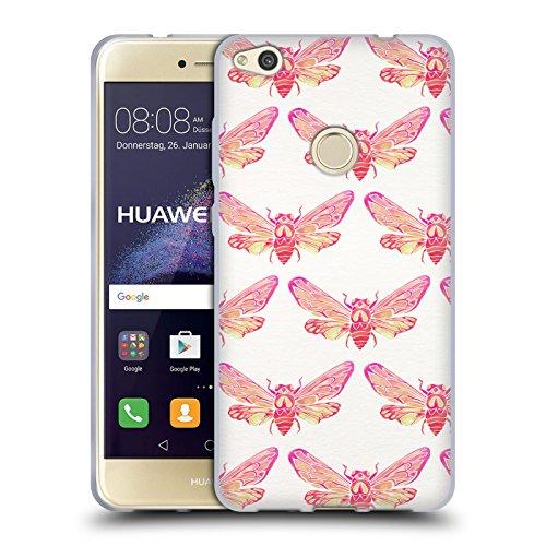 Head Case Designs Oficial Cat Coquillette Patrón de Verano Rosa. Insectos 2 Carcasa de Gel de Silicona Compatible con Huawei P8 Lite (2017)