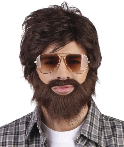 Dude wig with beard and mustache (peluca)