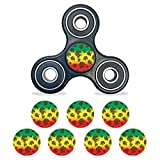 MightySkins Vinyl Decal Skin Compatible with Fidget Spinner Center Cap – Rasta Lion | Protective Sticker Wrap for Your Fidget Toy Bearing Cap | Easy to Apply Cover