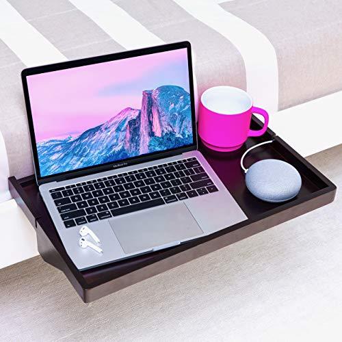 BedShelfie Plus The Original Bedside Shelf - 3 Colores / 2 tamaños - como SE VE EN Business Insider (Talla Grande, bambú en Negro)