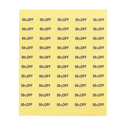 【250枚】台紙用シール イベントシール 10×5mm アクセサリー台紙用 日本製 (50%OFF・透明, 250枚)