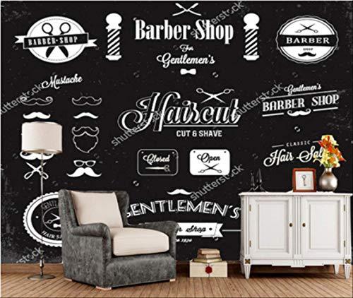 Barbiere papierbehang, personaliseerbaar, personaliseerbaar Larghezza 280cm - Altezza180cm Een
