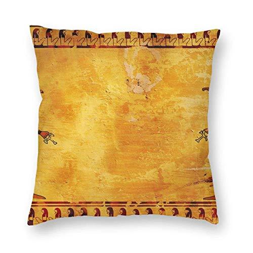 Gorgeous Socks Dekorativer Kissenbezug im antiken ägyptischen Stil, quadratisch, weich, robust, für Sofa, Schlafzimmer, Auto, 45,7 x 45,7 cm