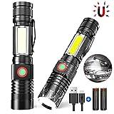 iToncs Taschenlampe LED Hohe Leuchtkraft, Mini USB Aufladbar Camping Taschenlampe mit Magnet,...