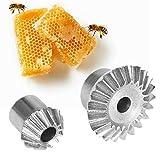MAGT La Miel Extractor de Engranajes, Engranaje de Acero Inoxidable con Tornillo y Juego de Llaves de Miel Extractor Extraer reparación Apicultura Fuentes Herramienta