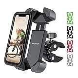 WOEOA Soporte Movil Bicicleta para Otterbox Funda, Soporte Movil Moto,Anti Vibración Porta Movil Bici Accesorios Moto Compatible con iPhone 11 Pro MAX/XS MAX/XR, Samsung S20 y Otro 4.7'-7' Móvil