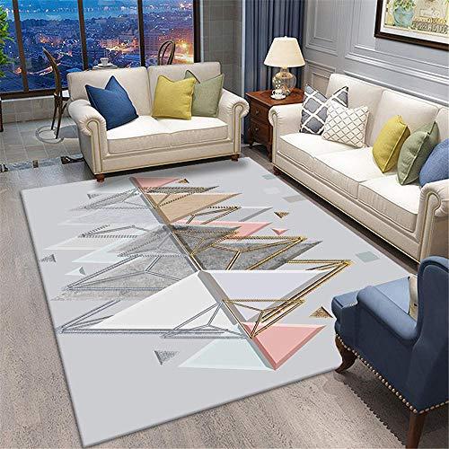 Kunsen Rug Anti Slip Colorful geometric puzzle bedroom living room carpet soft carpet Carpets For Living Room Sale Rug For Living Room grey 50X80CM