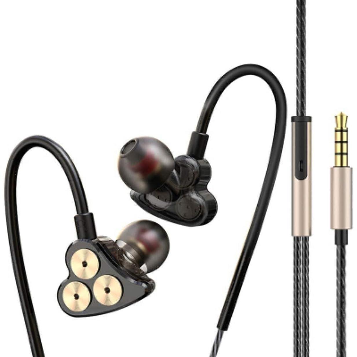 キモい資源暖かさSimple and generous 低音駆動音で、耳サブウーファーHDサウンドヘッドフォンスポーツフィットネスショッピングK歌ゲームアウトドア (Color : Carbon black)