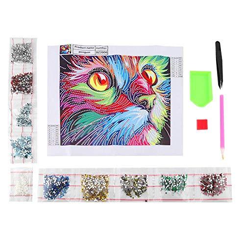 Jadpes diamant borduurwerk, DIY 5d diamant schilderij kleurrijke dieren kruissteek boren volledig borduurwerk hoofdwanddecoratie