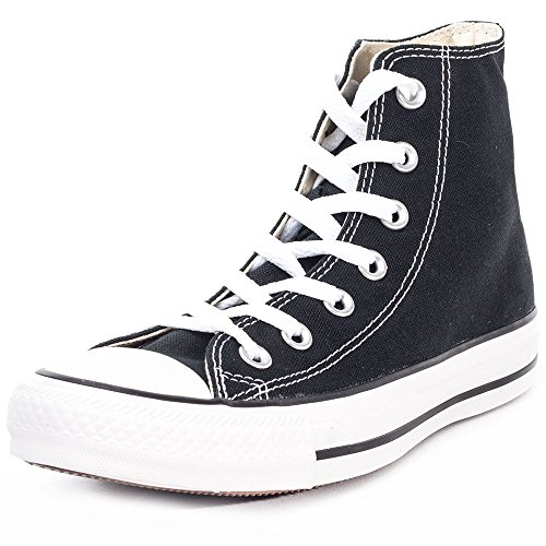 Converse Chuck Taylor All Star Hi Top, Zapatillas Mujer, Negro (Black/White), 37 EU