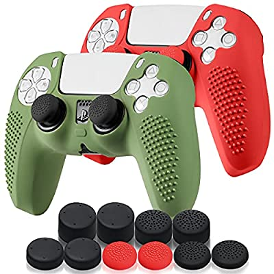 HYIEOU 2 Pack PS5 Controller Skin,Silicone Anti...