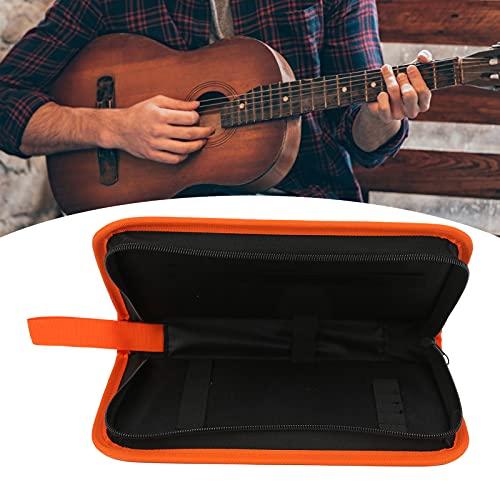 Juego de herramientas para diapasón de guitarra, kit de herramientas de reparación de guitarra, no es fácil de dispersar, duradero, fabricado con cuidado, impermeable, naranja para(naranja)