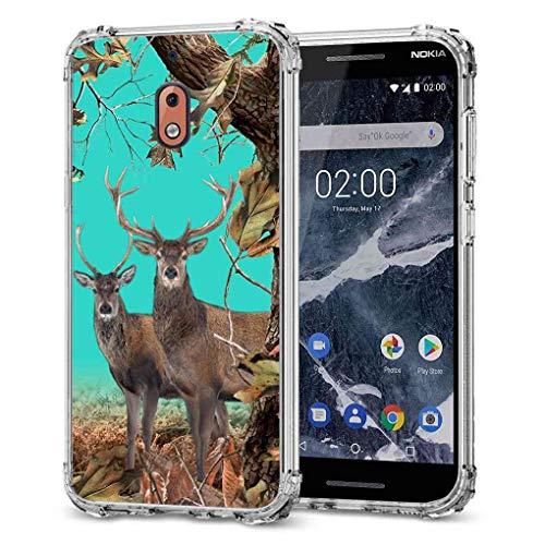 for Nokia 2V Camo Case,Nokia 2.1 Camo Case, BAYKE Slim Flexible TPU Bumper Cushion Pro Maxtective Case Back Cover with Reinforced Corner