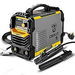 top 10 welders for cheap DEKOPRO 110 / 220V MMA Welder, 160A ARC IGBT Welder, Digital LCD Display, Hot Start Welder …