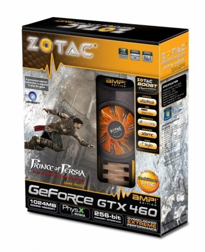 Zotac GeForce GTX 460 AMP Edition mit CUDA Grafikkarte (PCI-e, 1GB GDDR5 Speicher, DVI, HDMI, 1 GPU)