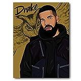 Gurrcia Designs Poster, Motiv Drake Eule, farbig, matt,
