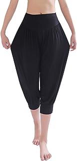 Pantalones Cortos De Yoga Pretina Elástico Bombachos Fitness para Mujer