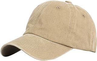 KESYOO boné de beisebol unissex de algodão lavado, ajustável, pigmentado, tingido de baixo perfil para o verão ao ar livre