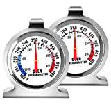 2 Pack Oven Thermometer - Large Dial Kitchen Cooking Thermometer100-600°F Oven Themometer for Convection Oven Instant Read Stainless Steel Thermometer for Gas Oven