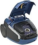 AEG VX8-3-FFP Staubsauger (mit Beutel, 650 W, nur 64 dB(A), 12 m Aktionsradius, Softräder, 3,5 l Staubbeutelvolumen, waschbarer Allergy Plus Filter) blau