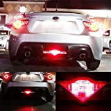 iJDMTOY Flashing Red LED Rear Fog/Brake Lamp Conversion Kit Compatible With 13-up Scion FR-S, Subaru BRZ, 2014-up Scion tC, 2009-up Nissan 370z etc. w/Strobing Warning Stop Light Effect