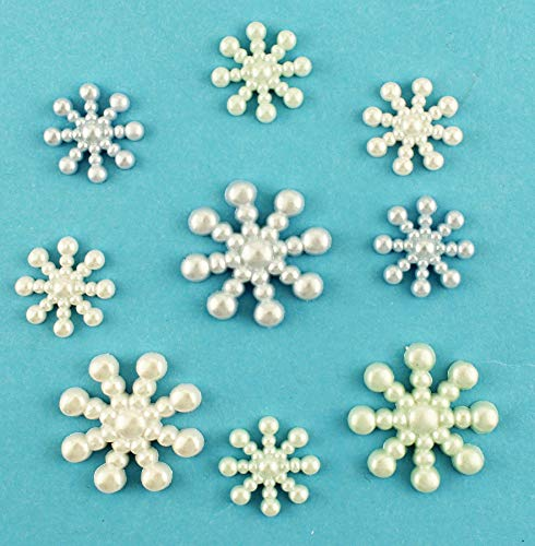 Buttons Galore Craft & Sewing Buttons - Pearl Snowflakes - 3 Packs (27 Buttons)
