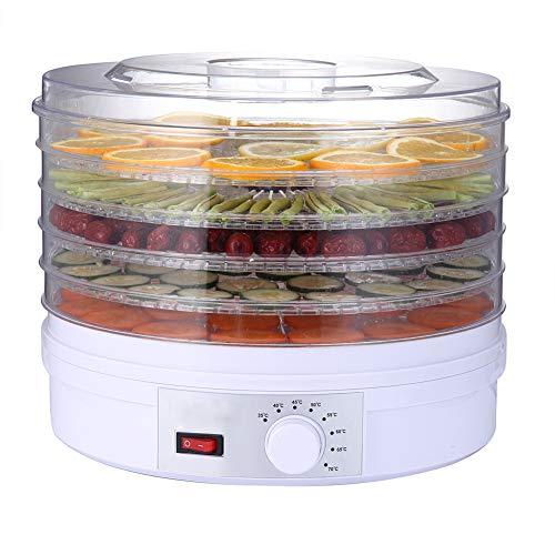 LIPETLI Deshidratador de Alimentos 240w, Desecadora de Fruta con 5 Bandejas Ajustables, Temperatura...