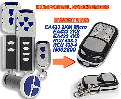 Normstahl EA433 2KM, EA433 2KS, EA433 4KS, RCU433-2K, RCU433-4K, N002800 kompatibel handsender, 4-kanal ersatz sender, 433.92Mhz rolling code. Top Qualität ersatzgerät!!!