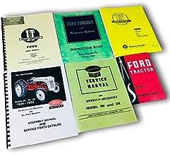 Lot 6 Ford 9N 2N Tractor Manual Shop Operators Parts Catalog Service Repair Set