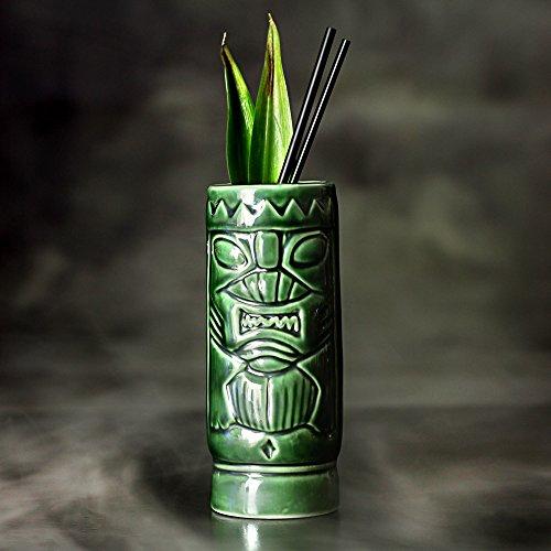 bar@drinkstuff De cerámica Verde Tiki Taza ml/300ML-cerámica Hawaiano cóctel Taza