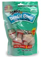 Dingo Dental Bones, Small, 6-Count by Dingo