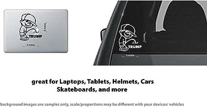 Calvin Cap Pee Piss on Trump Vinyl Sticker/Decal Window, Car, Laptop (White)