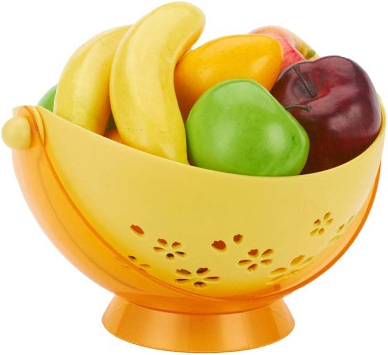BEI-YI Panier de fruits Creative Plastic Double-Drain Drain Panier de fruits Salon Fruit Snack Panier de rangeHommest Panier en plastique multifonction Panier de fruits -64 Corbeille de fruits