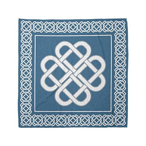Ambesonne Unisex Bandana, Irish Celtic Love Knot Symbol, Aqua White