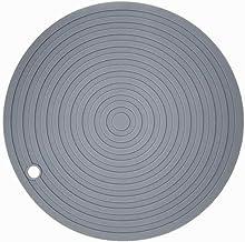 Cabilock Silicone Pot Holders Heat Resistant Non-slip Trivet Mats Hot Pads Multipurpose Trivet For Home Use (Grey)