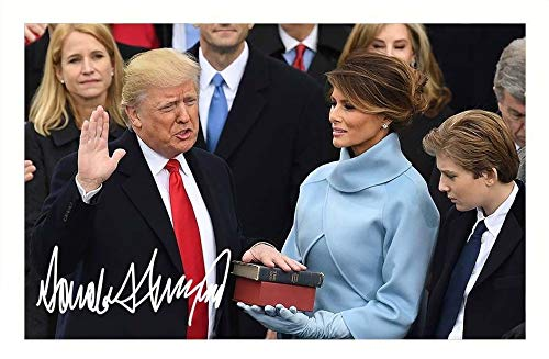 DS Donald Trump Autogramme Signiert 21cm x 29.7cm Foto Plakat